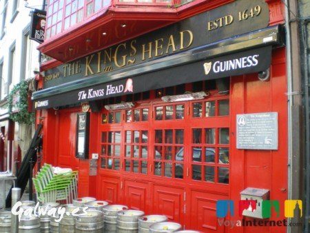 El pub The Kings Head, en el centro de Galway.